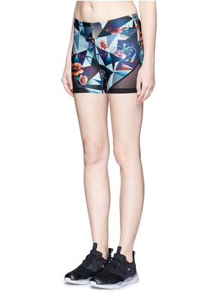 Front View - Click To Enlarge - We Are Handsome - 'The Score' print bike shorts