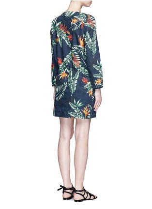 Back View - Click To Enlarge - We Are Handsome - 'The Bazaar' tropical cotton drawstring tunic dress