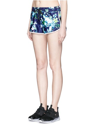 Front View - Click To Enlarge - We Are Handsome - 'The Dalliance' print drawstring running shorts