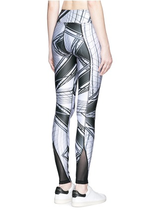 Back View - Click To Enlarge - We Are Handsome - 'The Siege' scenic print active leggings