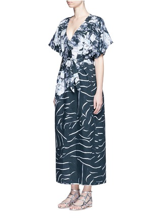 Figure View - Click To Enlarge - We Are Handsome - 'The Hybrid' tie waist floral cotton maxi kaftan
