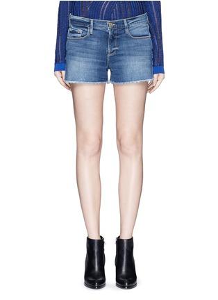 Detail View - Click To Enlarge - Frame Denim - 'Le Cut Off' frayed denim shorts