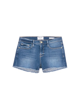 Main View - Click To Enlarge - FRAME DENIM - 'Le Cut Off' frayed denim shorts
