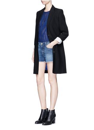 Figure View - Click To Enlarge - Frame Denim - 'Le Cut Off' frayed denim shorts