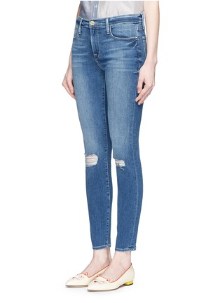 Front View - Click To Enlarge - FRAME DENIM - 'Le High Skinny' ripped knee jeans