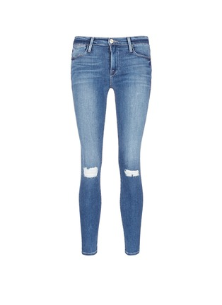 Main View - Click To Enlarge - FRAME DENIM - 'Le High Skinny' ripped knee jeans