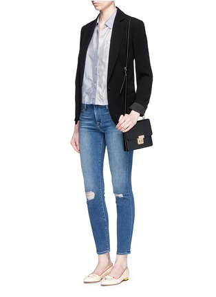 Figure View - Click To Enlarge - FRAME DENIM - 'Le High Skinny' ripped knee jeans