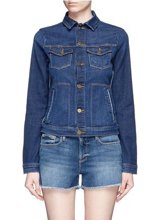 Main View - Click To Enlarge - FRAME DENIM - 'Le Jacket' cotton blend denim jacket