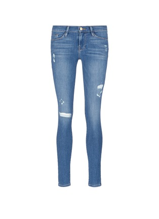 Main View - Click To Enlarge - Frame Denim - 'Le Skinny de Jeanne' distressed jeans