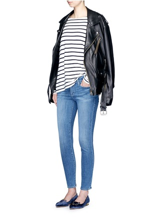 Figure View - Click To Enlarge - Frame Denim - 'Le Skinny De Jeanne' cropped jeans