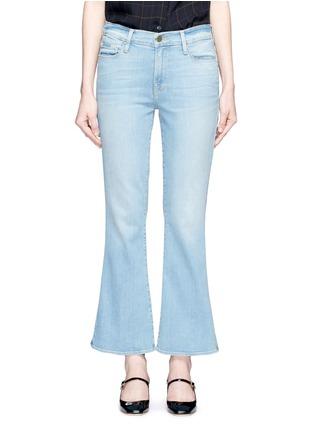 Detail View - Click To Enlarge - Frame Denim - x Inez & Vinoodh 'Inez' whiskered flared jeans