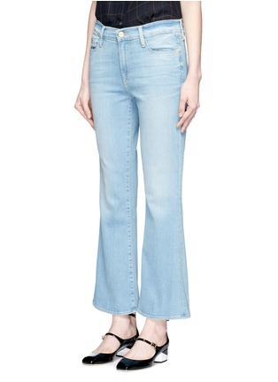 Front View - Click To Enlarge - FRAME DENIM - x Inez & Vinoodh 'Inez' whiskered flared jeans