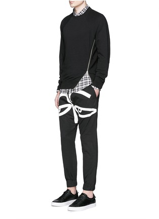 Figure View - Click To Enlarge - Haculla - 'All Eyes On Me' print drop crotch sweatpants