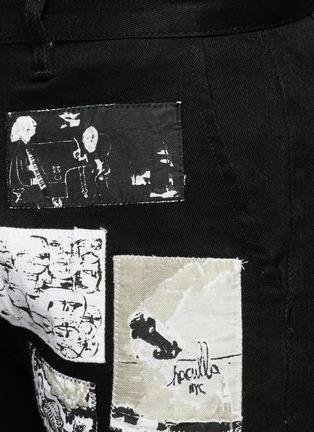 Detail View - Click To Enlarge - Haculla - Art patchwork appliqué denim shorts