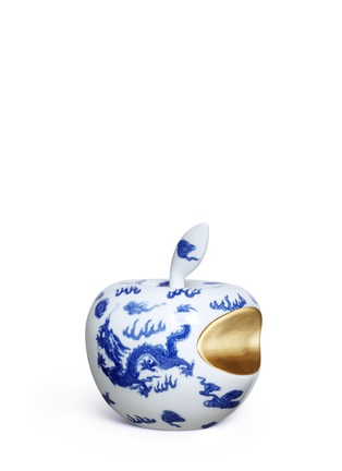 Main View - Click To Enlarge - Li Lihong - Metallic bite dragon apple sculpture
