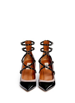 Figure View - Click To Enlarge - Valentino - 'Love Latch' caged patent leather pumps