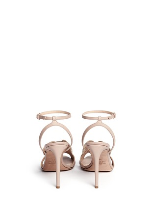 Back View - Click To Enlarge - Valentino - 'Angelicouture' angel wing crystal leather sandals