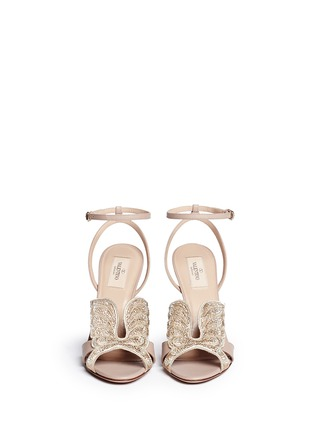 Figure View - Click To Enlarge - Valentino - 'Angelicouture' angel wing crystal leather sandals