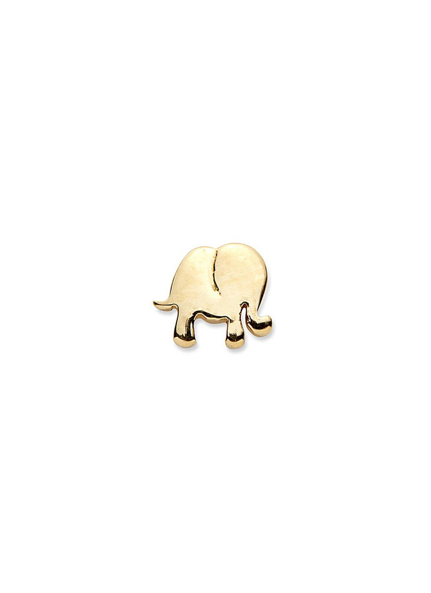 Loquet london 14k yellow gold elephant single earring happiness main view click to enlarge loquet london 14k yellow gold elephant single earring freerunsca Images