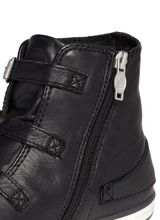 Detail View - Click To Enlarge - Ash - 'Virgin' buckle leather high top sneakers