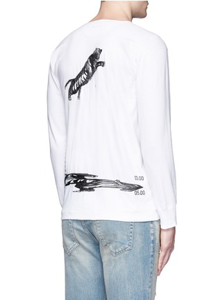 Back View - Click To Enlarge - SAAM1 - 'Violet' tiger embroidery Henley shirt
