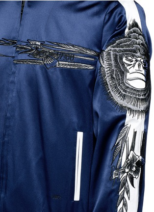 Detail View - Click To Enlarge - SAAM1 - 'Gladiolus' monkey embroidery souvenir jacket