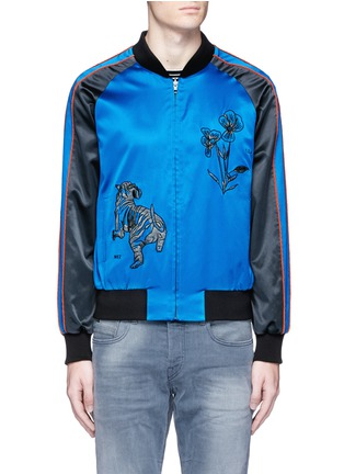 Main View - Click To Enlarge - Saam1 - 'Violet' tiger embroidery souvenir jacket