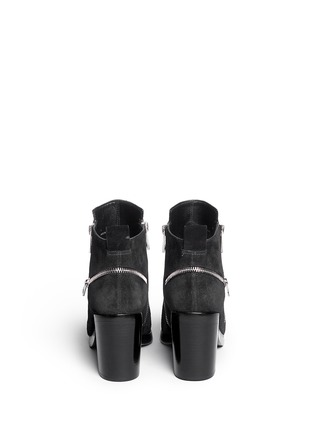 Back View - Click To Enlarge - KENZO - 'Totem' suede ankle boots