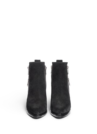 Front View - Click To Enlarge - KENZO - 'Totem' suede ankle boots