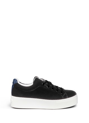 Main View - Click To Enlarge - KENZO - Leather trim velvet platform sneakers