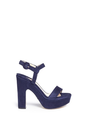 Main View - Click To Enlarge - Paul Andrew - 'Stanton' suede platform sandals