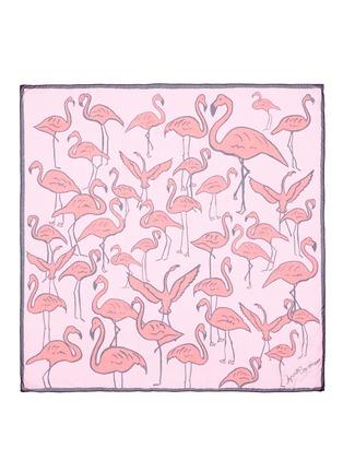 Main View - Click To Enlarge - Anna Coroneo - 'Flamingos Iride' modal scarf