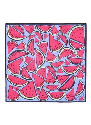 Main View - Click To Enlarge - Anna Coroneo - 'Watermelon Bella' silk chiffon scarf