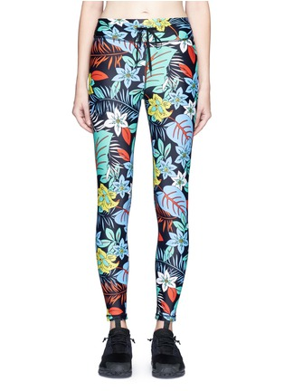 Main View - Click To Enlarge - The Upside - 'Aloha Tropical' print performance leggings