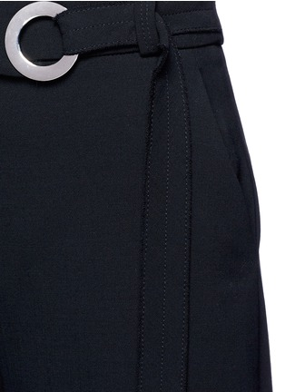 Detail View - Click To Enlarge - Proenza Schouler - Belted wool culottes