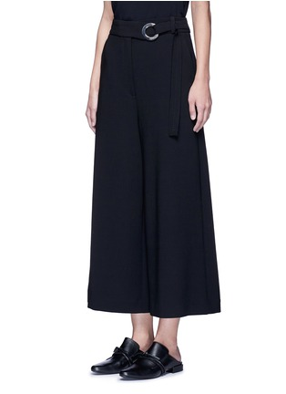 Front View - Click To Enlarge - Proenza Schouler - Belted wool culottes