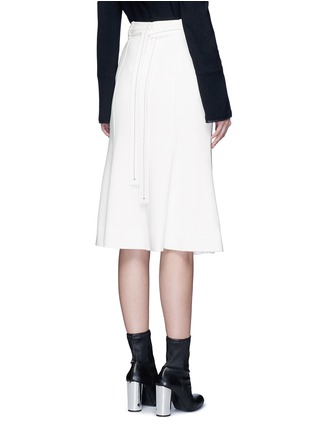 Back View - Click To Enlarge - Proenza Schouler - Belted double weave crepe skirt
