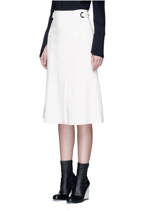 Front View - Click To Enlarge - Proenza Schouler - Belted double weave crepe skirt