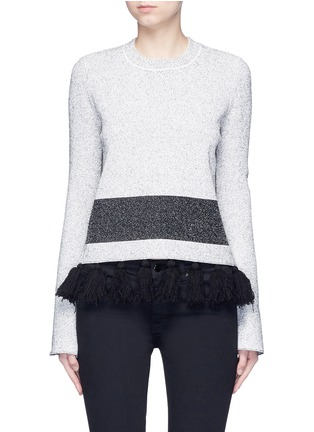 Main View - Click To Enlarge - PROENZA SCHOULER - Fringe tassel knit sweater