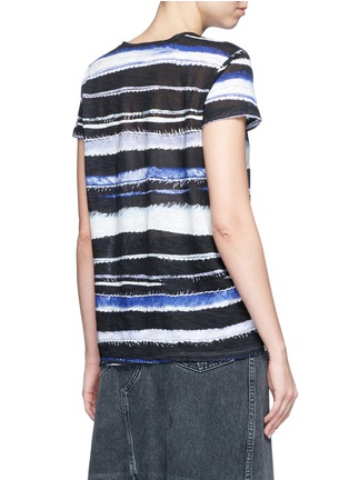 Back View - Click To Enlarge - PROENZA SCHOULER - Stripe print tissue jersey cotton T-shirt