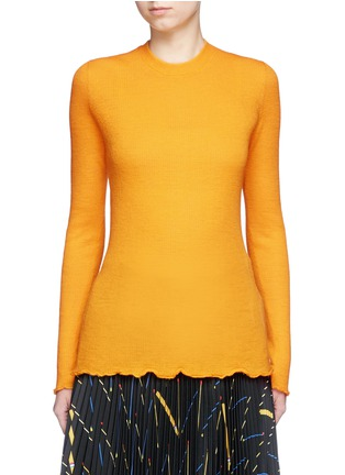 Main View - Click To Enlarge - Proenza Schouler - 'Ultrafine' button back rib knit wool sweater