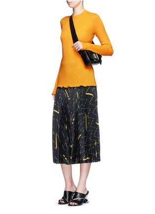 Figure View - Click To Enlarge - Proenza Schouler - 'Ultrafine' button back rib knit wool sweater