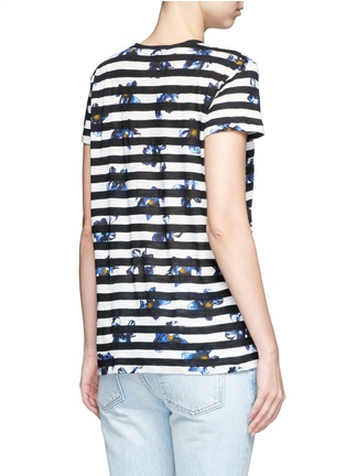 Back View - Click To Enlarge - Proenza Schouler - Floral stripe tissue jersey cotton T-shirt