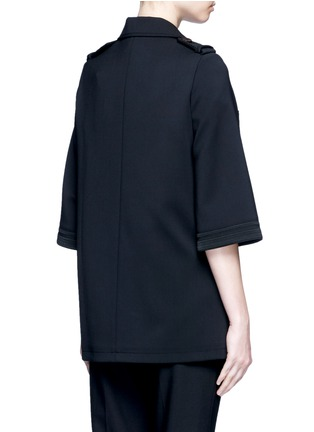 Back View - Click To Enlarge - Neil Barrett - Oversize virgin wool blend cape