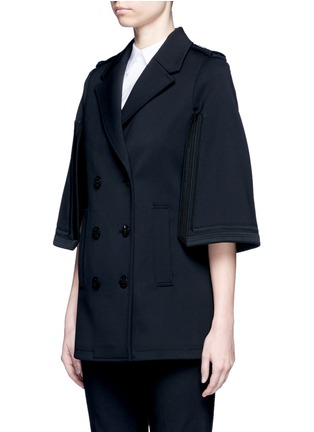 Front View - Click To Enlarge - NEIL BARRETT - Oversize virgin wool blend cape