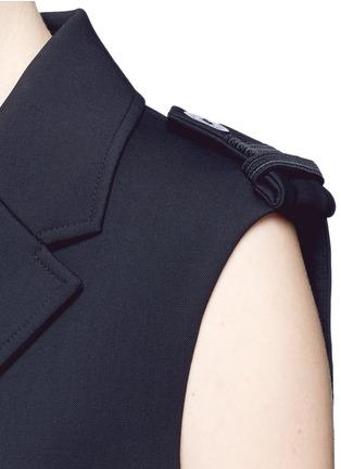 Detail View - Click To Enlarge - NEIL BARRETT - Virgin wool blend twill oversize sleeveless jacket