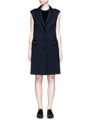 Main View - Click To Enlarge - NEIL BARRETT - Virgin wool blend twill oversize sleeveless jacket
