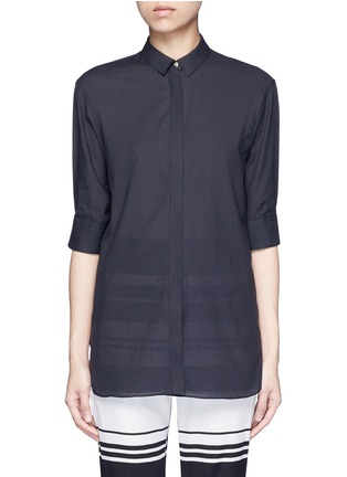 Main View - Click To Enlarge - Neil Barrett - Cotton muslin shirt