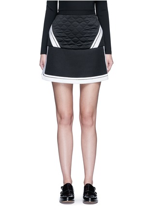 Main View - Click To Enlarge - Neil Barrett - Contrast stripe tech mesh skirt
