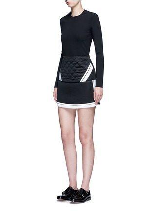 Figure View - Click To Enlarge - Neil Barrett - Contrast stripe tech mesh skirt